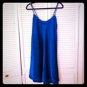 🎉$10 SALE🎉 EUC VTG PLUS blue chemise w/detail